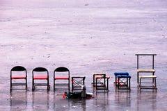 επιφάνεια τοπίων πάγου Στοκ Φωτογραφίες
