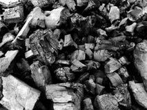 Επιφάνεια του ξυλάνθρακα στοκ φωτογραφίες