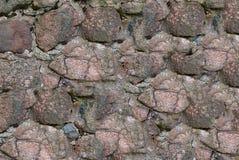 Επιφάνεια υποβάθρου της ανώμαλης κόκκινης καφετιάς σύστασης κυβόλινθων πετρών Στοκ φωτογραφίες με δικαίωμα ελεύθερης χρήσης