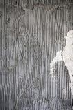 Επιφάνεια χτενών ασβεστοκονιάματος κόλλας τοίχων κονιάματος στοκ εικόνες