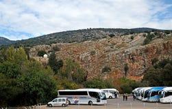 Επιφύλαξη φύσης Banias στο βόρειο Ισραήλ στοκ εικόνα