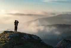 Επιφύλαξη, huntsman, εργασία, φυσικό πάρκο, βουνό, κλίση στοκ φωτογραφίες