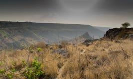 Επιφύλαξη φύσης Gamla τοπίων του Ισραήλ Στοκ Εικόνες