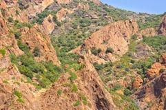 Επιφύλαξη φύσης Scandola, περιοχή παγκόσμιων κληρονομιών της ΟΥΝΕΣΚΟ, Κορσική, FR Στοκ φωτογραφία με δικαίωμα ελεύθερης χρήσης