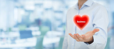 Επιχείρηση αγάπης επιχειρηματιών Στοκ φωτογραφίες με δικαίωμα ελεύθερης χρήσης