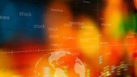 Επιχείρηση, αγορά, υπόβαθρο αποθεμάτων διανυσματική απεικόνιση