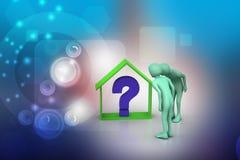 Επιχείρηση ακίνητων περιουσιών με το ερωτηματικό Στοκ εικόνες με δικαίωμα ελεύθερης χρήσης