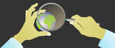 Επιχείρηση αναζήτησης Διαδικτύου στον υπολογιστή Στοκ Εικόνα