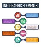 Επιχείρηση Απλά infographic βαθμιαία πρότυπο με τα ενσωματωμένα εικονίδια Στοκ Φωτογραφίες