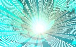 Επιχείρηση, Διαδίκτυο και έννοια τεχνολογίας - κλείστε επάνω του ρεύματος στοιχείων τρισδιάστατη απεικόνιση ελεύθερη απεικόνιση δικαιώματος