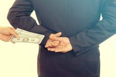 επιχείρηση δωροδοκιών χρημάτων στοκ φωτογραφία με δικαίωμα ελεύθερης χρήσης