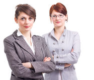 επιχείρηση δύο γυναίκες στοκ φωτογραφίες