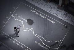 Επιχείρηση εξέτασης από την κορυφή Στοκ φωτογραφία με δικαίωμα ελεύθερης χρήσης
