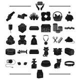 Επιχείρηση, διακοπές, χαρτοπαικτική λέσχη και άλλο εικονίδιο Ιστού στο μαύρο ύφος επικοινωνία, κομμωτής, εικονίδια ζώων στην καθο Στοκ εικόνες με δικαίωμα ελεύθερης χρήσης