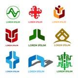 Επιχείρηση και βιομηχανικό πακέτο σχεδίου λογότυπων διανυσματική απεικόνιση