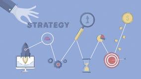Επιχείρηση και εμπορική στρατηγική Στοκ εικόνα με δικαίωμα ελεύθερης χρήσης