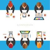 Επιχείρηση και διανυσματικό σχέδιο γραφείων Στοκ Εικόνες