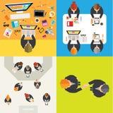Επιχείρηση και κοινωνικό σχέδιο NetworkVector γραφείων Στοκ Εικόνα