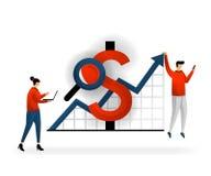 Επιχείρηση και προώθηση της διανυσματικής απεικόνισης Καθορίστε το εισόδημα λαμβανόμενο από τις λέξεις κλειδιά που αγοράζονται, π ελεύθερη απεικόνιση δικαιώματος