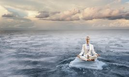 Επιχείρηση και υγιής έννοια τρόπου ζωής Μικτά μέσα Στοκ Εικόνα