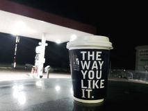 Επιχείρηση καφέ του Σιάτλ Στοκ φωτογραφία με δικαίωμα ελεύθερης χρήσης