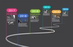 Επιχείρηση κύριων σημείων, διάνυσμα Infographic, πρότυπο σχεδίου, διανυσματική απεικόνιση, Στοκ φωτογραφίες με δικαίωμα ελεύθερης χρήσης