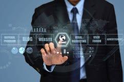 Επιχείρηση μάρκετινγκ Διαδικτύου στοκ εικόνα με δικαίωμα ελεύθερης χρήσης