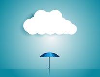 Επιχείρηση με την ομπρέλα Απεικόνιση επιχειρησιακής έννοιας Στοκ φωτογραφία με δικαίωμα ελεύθερης χρήσης