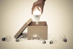 Επιχείρηση με τη νέες ιδέα και την καινοτομία Στοκ Εικόνα