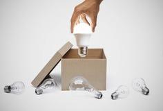 Επιχείρηση με τη νέες ιδέα και την καινοτομία Στοκ Εικόνες