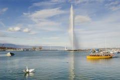 Επιχείρηση ναυσιπλοΐας της Γενεύης λιμνών της Γενεύης Ελβετία Στοκ Φωτογραφία