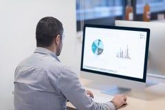 Επιχείρηση ξεκινήματος, προγραμματιστής λογισμικού που λειτουργεί στον υπολογιστή γραφείου Στοκ Εικόνες