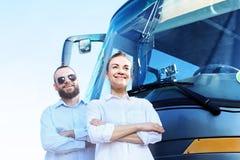 Επιχείρηση, οδηγός και παραγωγός ταξιδιών μεταφορών Στοκ φωτογραφία με δικαίωμα ελεύθερης χρήσης