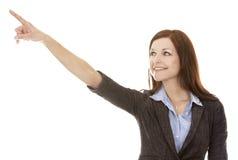 επιχείρηση που δείχνει τη γυναίκα Στοκ φωτογραφία με δικαίωμα ελεύθερης χρήσης