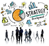 Επιχείρηση προγραμματισμού οράματος μάρκετινγκ στόχου ανάπτυξης στρατηγικής Στοκ Φωτογραφία
