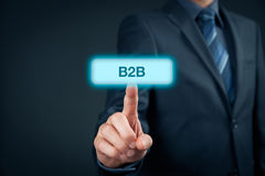 Επιχείρηση στην επιχείρηση B2B Στοκ Φωτογραφίες