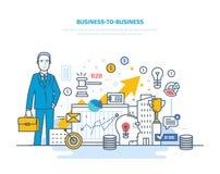 Επιχείρηση στην επιχείρηση, ηλεκτρονικό εμπόριο, ηλεκτρονικές εμπορικές συναλλαγές, κεφαλαιαγορές, χρηματιστήριο Στοκ Εικόνα