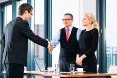 Επιχείρηση - συνέντευξη και μίσθωση εργασίας Στοκ Εικόνα