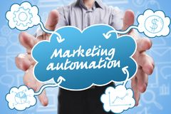 Επιχείρηση, τεχνολογία, Διαδίκτυο και μάρκετινγκ Νέος επιχειρηματίας Στοκ Εικόνες