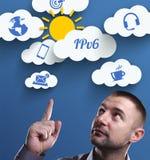 Επιχείρηση, τεχνολογία, Διαδίκτυο και μάρκετινγκ Νέος επιχειρηματίας Στοκ Εικόνα
