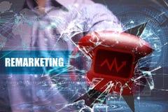 Επιχείρηση τεχνολογία Διαδίκτυο Μάρκετινγκ Remarketing Στοκ φωτογραφία με δικαίωμα ελεύθερης χρήσης