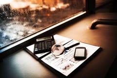 Επιχείρηση της οικονομικής ανάλυσης Στοκ Εικόνες