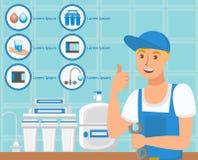 Επιχείρηση υπηρεσιών υδραυλικών επίσης corel σύρετε το διάνυσμα απεικόνισης απεικόνιση αποθεμάτων