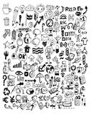 Επιχείρηση χεριών doodle doodles διανυσματική απεικόνιση