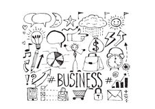 Επιχείρηση χεριών doodle doodles Στοκ φωτογραφίες με δικαίωμα ελεύθερης χρήσης