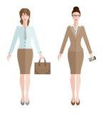 επιχείρηση δύο γυναίκα διανυσματική απεικόνιση