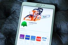 Επιχείρηση app Timberpro Στοκ εικόνα με δικαίωμα ελεύθερης χρήσης