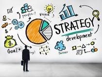 Επιχείρηση Con προγραμματισμού οράματος μάρκετινγκ στόχου ανάπτυξης στρατηγικής απεικόνιση αποθεμάτων