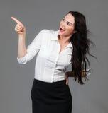 επιχείρηση copyspace που δείχνει τη γυναίκα Στοκ εικόνα με δικαίωμα ελεύθερης χρήσης