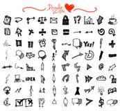 Επιχείρηση doodles Στοκ Εικόνα